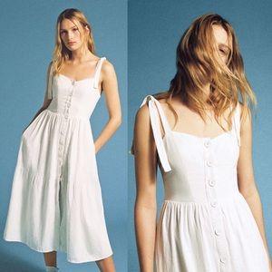 UO Tie-Shoulder Positano Midi Dress